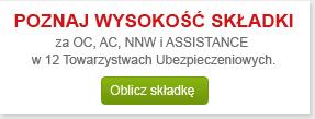 Wycena ubezpieczenia OC, AC, NNW i Assistance